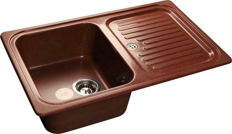 Кухонная мойка Granfest Standart GF-S780L, Красный Марс, с крылом, разм. 780х500