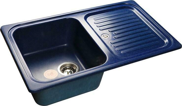 Кухонная мойка Granfest Standart GF-S780L, синий, с крылом, размер 780х500