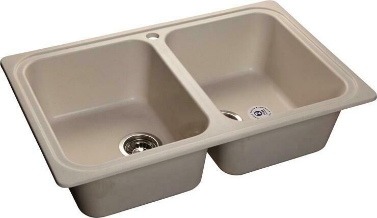 Кухонная мойка Granfest Standart GF-S780K, Белый, 2-секц., разм. 780х510