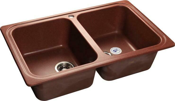 Кухонная мойка Granfest Standart GF-S780K, Красный Марс, 2-секц., разм. 780х510