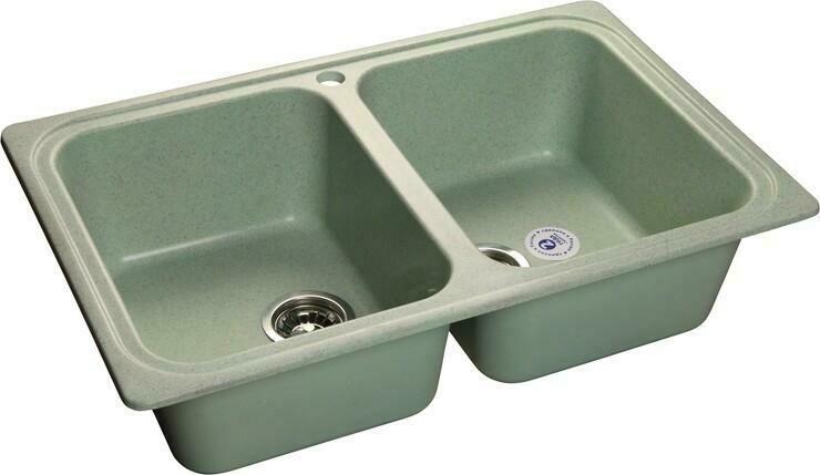 Кухонная мойка Granfest Standart GF-S780K, Салатовый, 2-секц., разм. 780х510