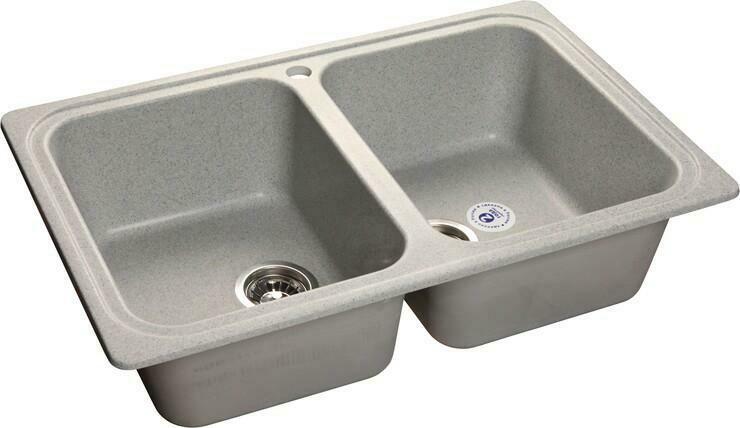 Кухонная мойка Granfest Standart GF-S780K, Серый, 2-секц., разм. 780х510