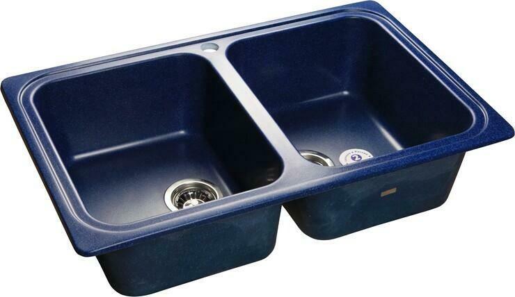 Кухонная мойка Granfest Standart GF-S780K, Синий, 2-секц., разм. 780х510