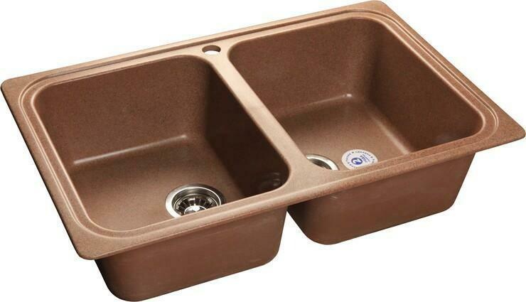 Кухонная мойка Granfest Standart GF-S780K, Терракот, 2-секц., разм. 780х510