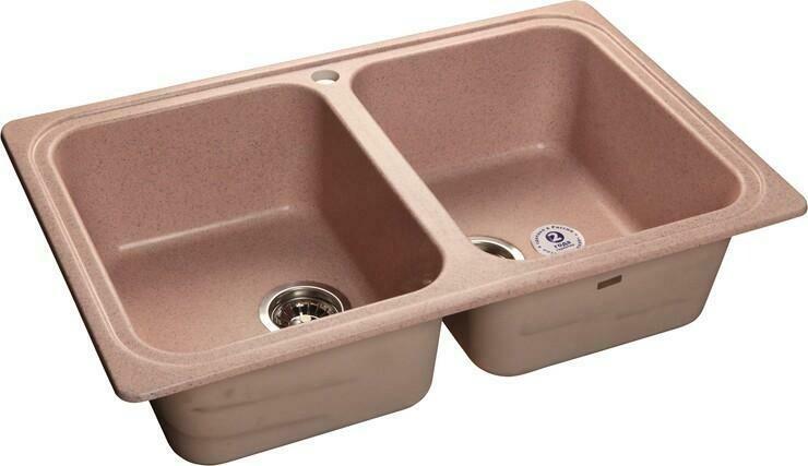 Кухонная мойка Granfest Standart GF-S780K, розовый, 2-секц., размер 780x510