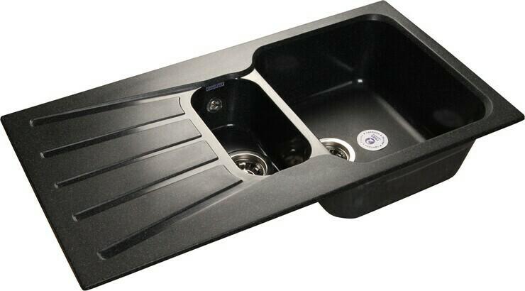 Кухонная мойка Granfest Standart GF-S940KL, Черный, разм. 940х495