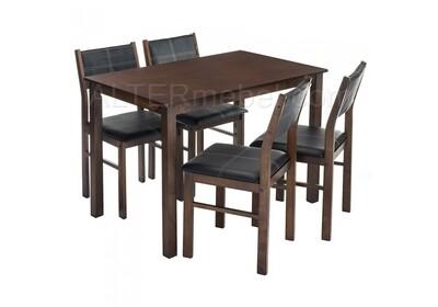 Bahamas (стол и 4 стула) oak / black