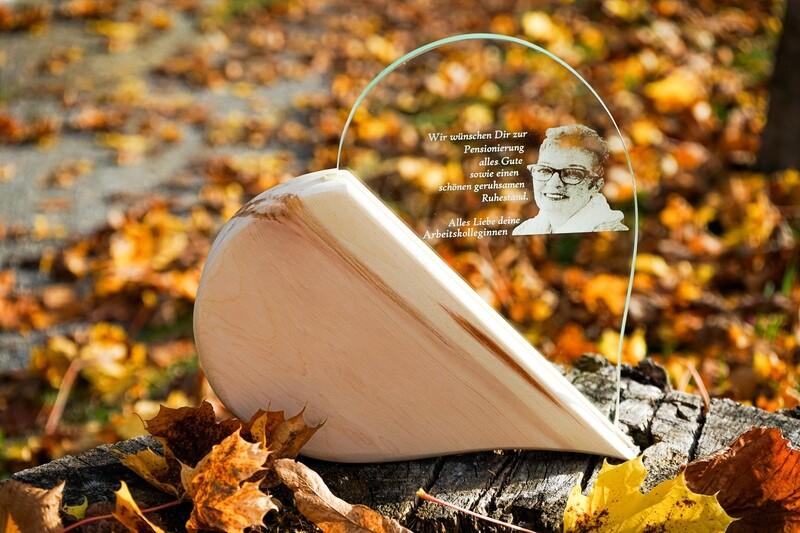 Holz Glas Fotogravur