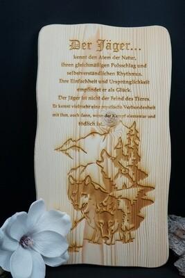Holzbild ,,Der Jäger''