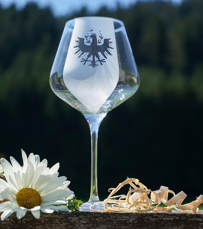 Rotweinglas Tirol
