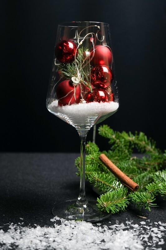 Weinglas mit LED-Licht
