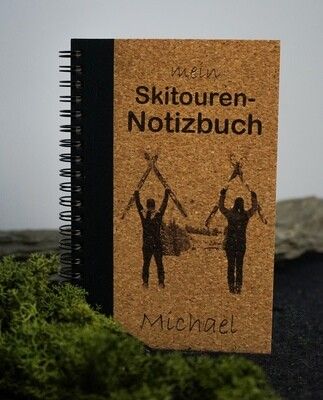Kork- Notizbuch mit Fotogravur