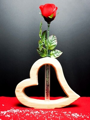 Holz-Glas-Herz