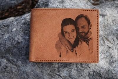 Echtleder-Geldtasche