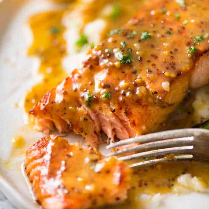 Honey Mustard Breaded Salmon