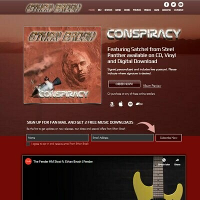 Wix Pro Music Website