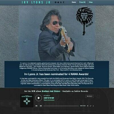 Wix Silver Music Website