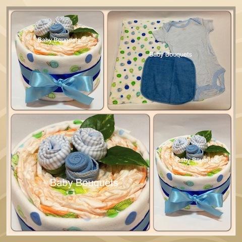 Flower Cake Bouquet - Baby Boy