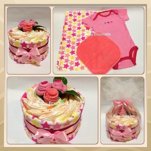 Flower Cake Bouquet - Baby Girl