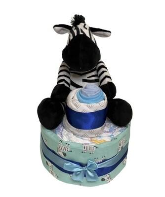 Ziggy Zebra Diaper Cake