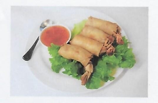 Rouleaux au crevettes / Fried prawns