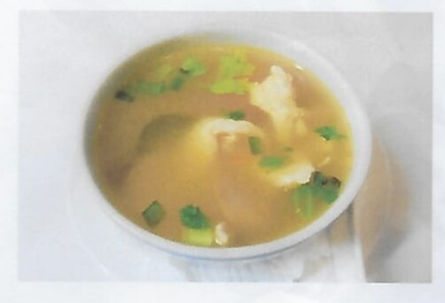 Soupe de poulet à la cittronnelle / Chicken soup  ( Tom Yum Kai)