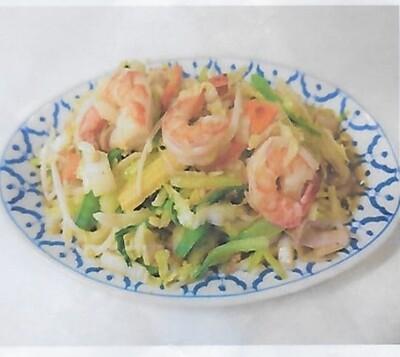 Crevettes sauté aux légumes / Shrimps with végetables