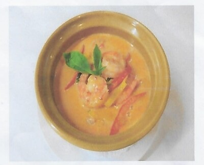 Crevettes au curry rouge / Red curry with shrimps