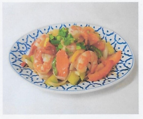 Crevettes à la sauce aigre-douce / Shrimps with sweet and sour