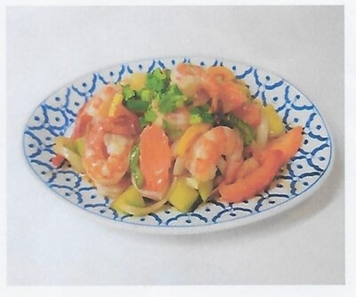 Crevettes à la sauce aigre-douce / Shrimps with sweet and sour