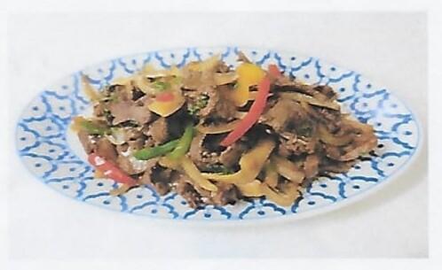 Boeuf sauté au basilic piquante / Fried beef with basilic