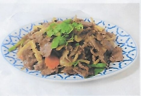 Boeuf sauté au gingembre / Fried beef with ginger