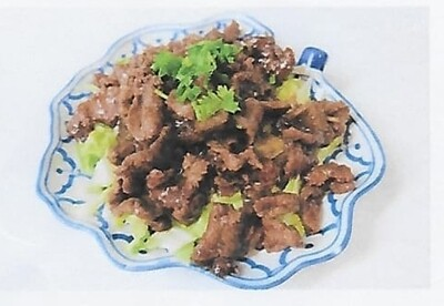 Boeuf sauté à l'ail et poivre / Fried beef with garlic and pepper