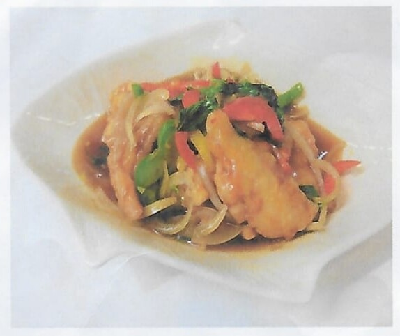 Poisson à la sauce aigre-piquante / Fried fish with hot and sour sauce
