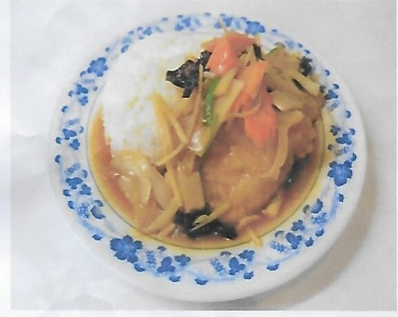 Riz avec poisson au gingembre / Rice with fried fish with ginger