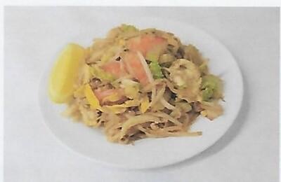 Nouilles sauté aux crevettes / Fried noodles with shrimp