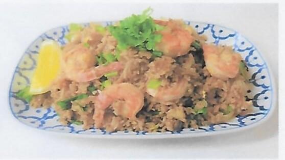 Riz sauté aux oeufs aux légumes avec (boeuf, poulet, ou crevettes au choix)