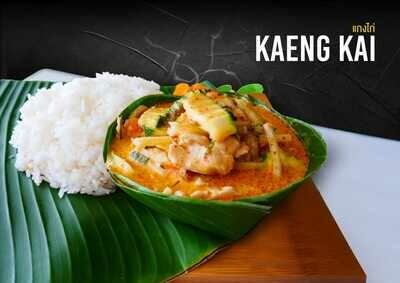 KAENG KAI - Poulet au curry rouge/vert Chicken curry red/green