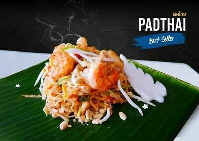 PADTHAI-Nouille Sautées crevettes / poulet / mixte Fried noodles shrimp/ chcken/ mexte