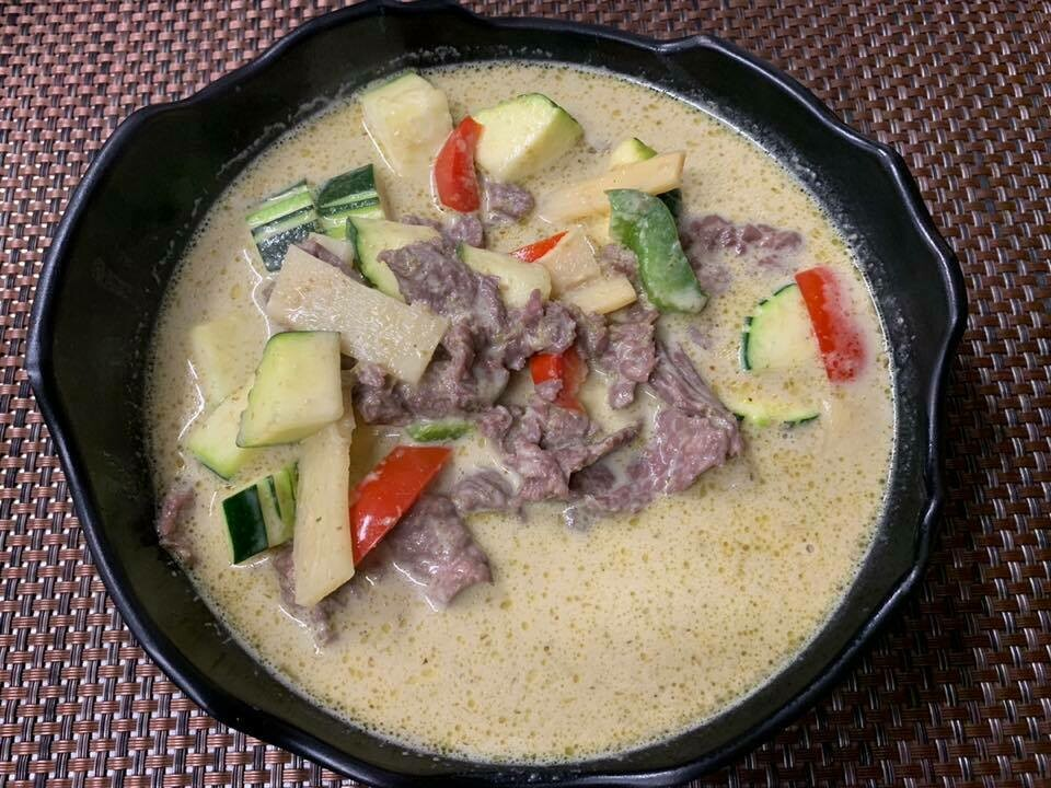 B5. Boeuf au curry vert./ Beef whith green curry