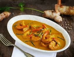 F10. Crevettes au curry panang / Shrimps with panang Curry