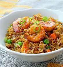 F5. Riz sauté aux crevettes/  Fried rice with shrimps