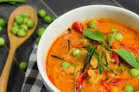 F4. Poisson au curry rouge/ Fish with red curry
