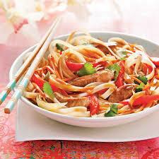 N2 Nouilles sautées au sauce soja au porc/  Fried Noodles with soy sauce pork