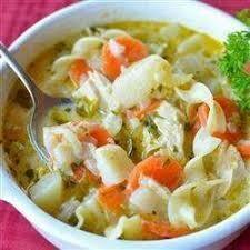 N5. Saupe de nouilles au poulet /  Noodle soup chicken