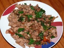P4. Porc sauté au basilic/ Stir - fried pork with basil