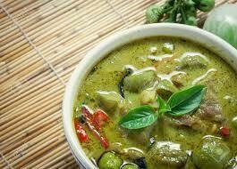 P6. Porc au curry vert/ Pork with green curry