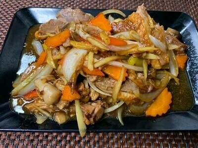 03. Canard sauté au gingembre: Stir - fried duck with green ginger