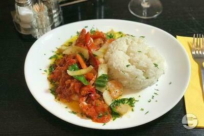 Gambas au curry