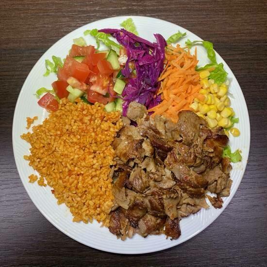 Assiette kebab et riz